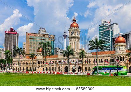 KUALA LUMPUR, MALAYSIA - OCTOBER 26, 2012: Sultan Abdul Samad Building in the cosmopolitan city of Kuala Lumpur Malaysia
