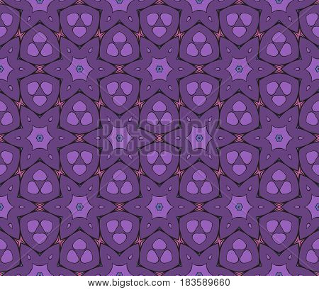 Color Ornamental Flower Design. Modern Seamless Geometry Pattern. Vector Illustration. For The Inter