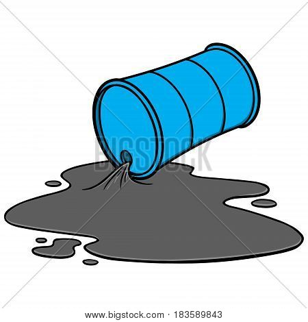 A vector illustration of a Oil spill.