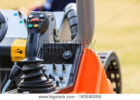 Operating System On Big Industrial Agricultural Machine