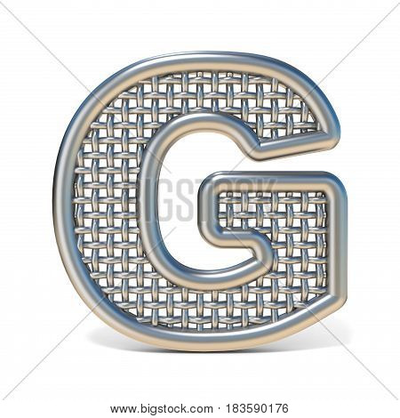 Outlined Metal Wire Mesh Font Letter G 3D