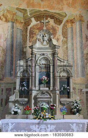 SCITARJEVO, CROATIA - AUGUST 23: Parish Church of Saint Martha in Sisinec, Croatia on August 23, 2011.