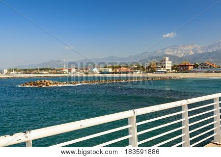 amazing marina di massa pier view in versilia