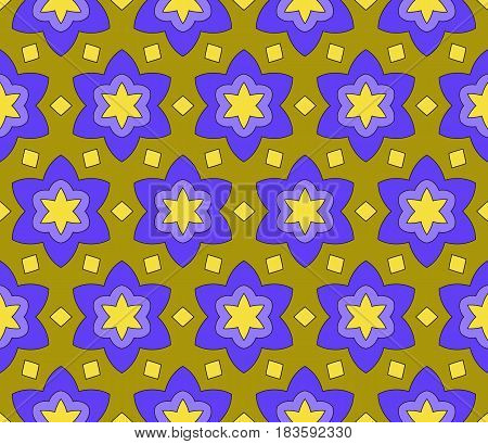 Color Creative Floral Geometric Pattern. Seamless Vector Illustration.