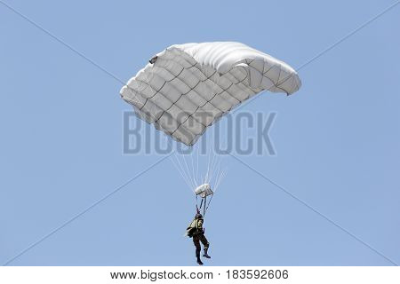 Parachute soldiers in the sky, Japan Self Defense Forces