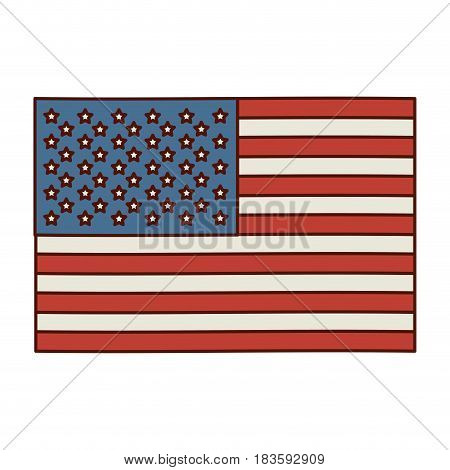 light colours silhouette of flag the united states vector illustration