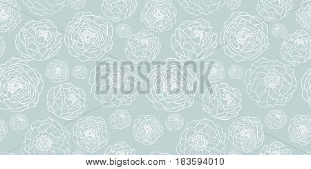 Vector silver grey flower garden seamless repeat pattern background texture. Perfect for wedding invitations, wallpaper, giftwrap, stationery, and fabric. Textile pattern design.