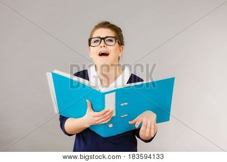 Confused Business Woman Playing Silly