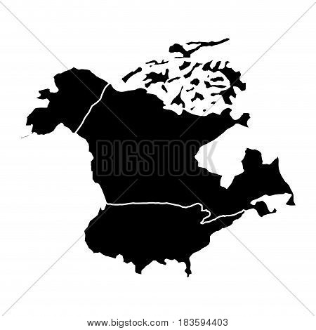 Map of the american north vector illustration design