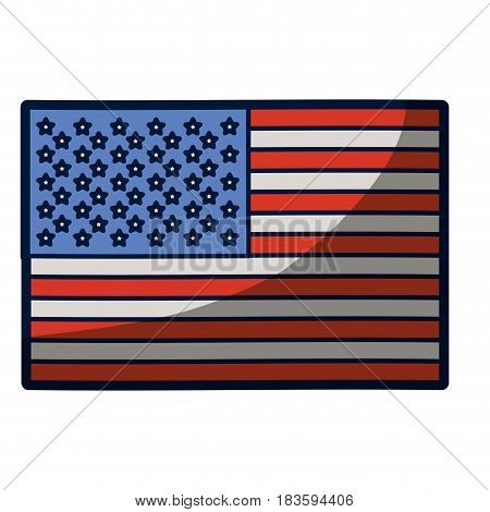 light colours silhouette of flag the united states with half shadow vector illustration