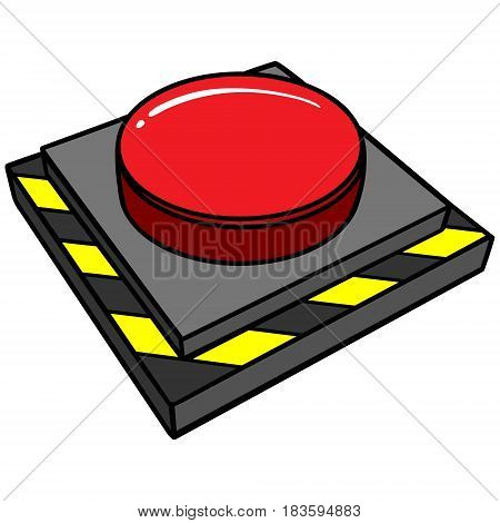 A vector illustration of a panic button.