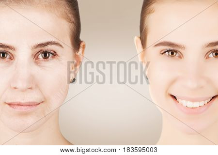 the differnece between old and young similar faces