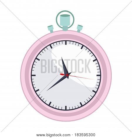 colorful graphic of female stopwatch vector illustration