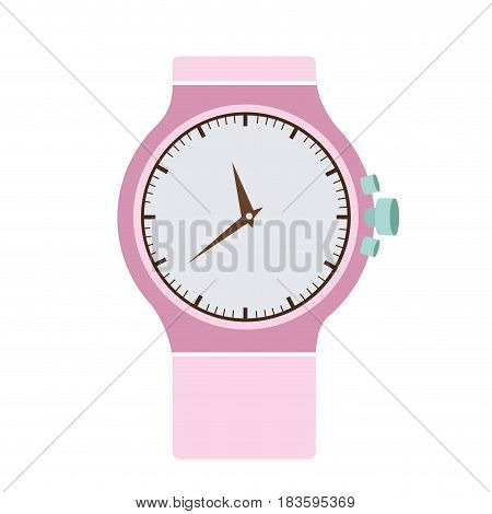 color graphic of modern female wristwatch vector illustration