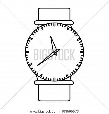 monochrome silhouette of female wristwatch vector illustration