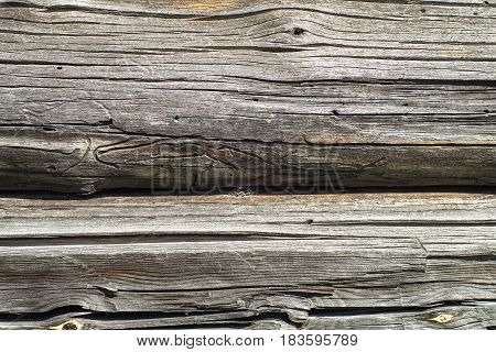 Old Wooden Wall Close Up