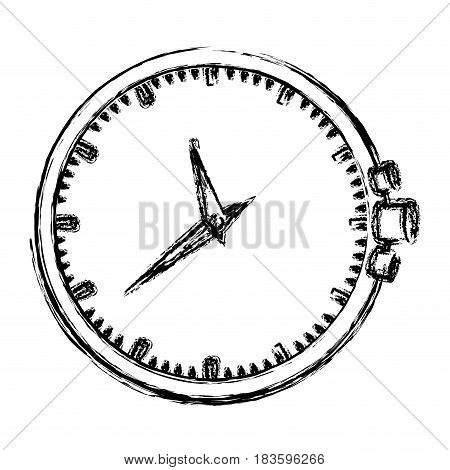 monochrome blurred silhouette of clock without bracelet vector illustration