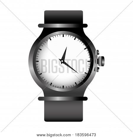realistic graphic with gray female bracelet clock vector illustration