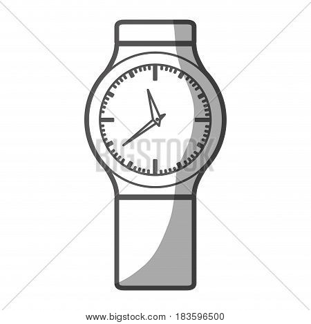 grayscale silhouette of small male wristwatch vector illustration