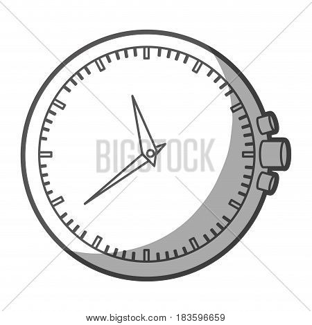 grayscale silhouette of clock without bracelet vector illustration
