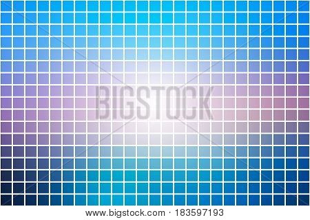Blue shades pink abstract vector square tiles over white mosaic background