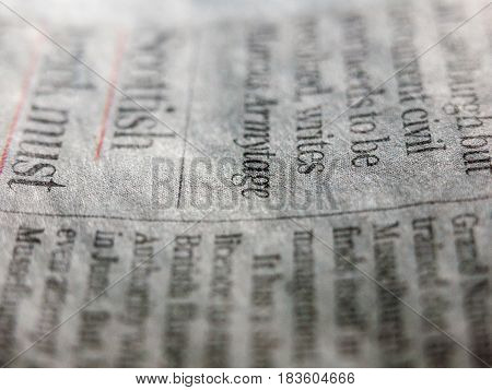 A Close Up Angle Of A Newspaper Funky And Cool Retro Style
