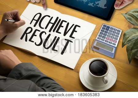 Achieve Result Compass , Businessman Results And Expectations , Arrows In Business Diagram