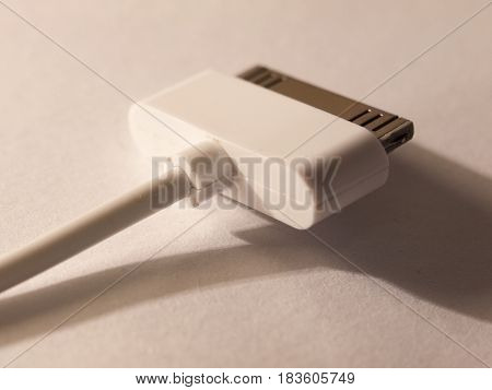 Close Up Of A Usb Charger Head For A Mp3 Player