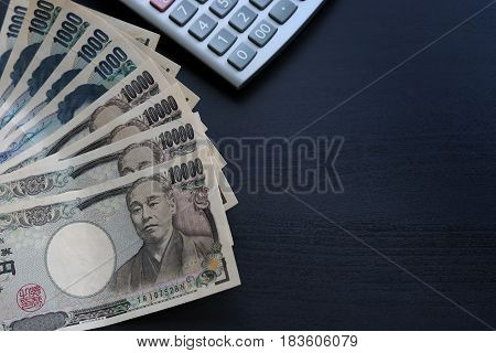 Yen Notes  Money Concept Background Closeup Of Japanese Currency Yen Bankd