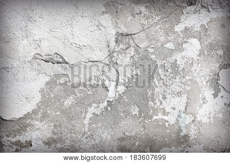 the Cracked concrete old wall texture background