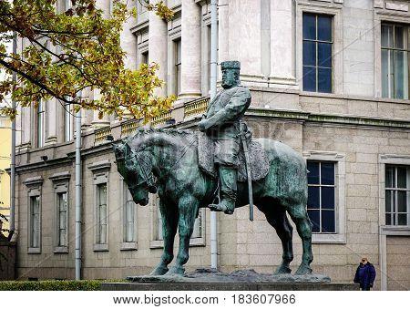 Monument In Saint Petersburg, Russia