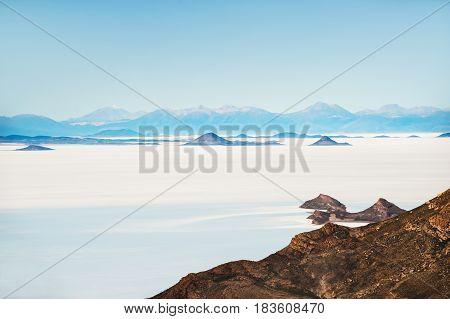 Salt Flat Salar De Uyuni, Altiplano, Bolivia
