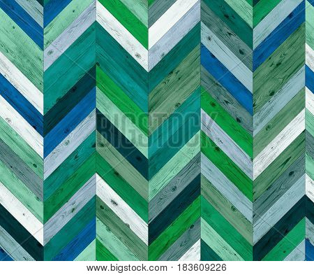 Chevron random color natural parquet seamless floor texture or background