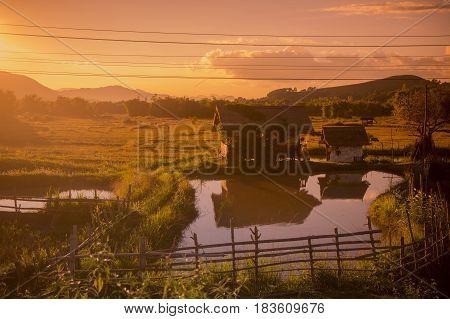 Lao Phonsavan Landscape Agriculture