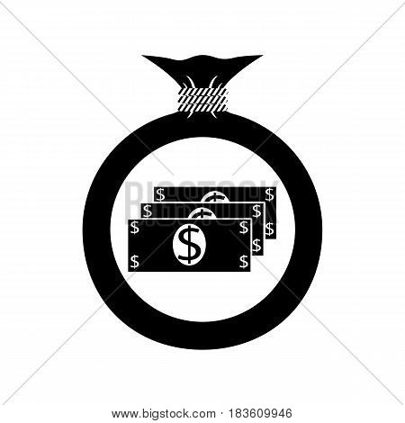 Vector. The icon. Bag with money Dollar