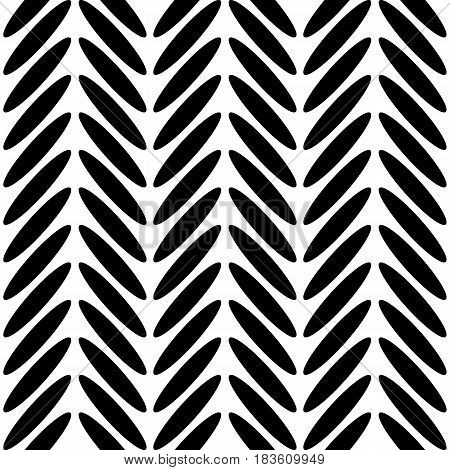 Classic herringbone black and white seamless pattern. Monochrome abstract simple background in scandinavian nordic design. Vector illustration.