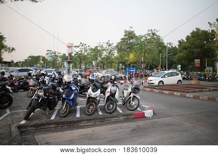 Busy Car Parking Area Of Chiangmai International Airport