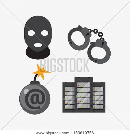 Internet security safety icon virus attack vector data protection technology network concept design elements cyber crimes illustration. Download document social protect online wireless system.