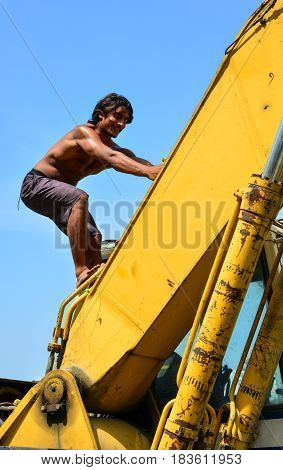 Indian Young Man With Outdoor Activities