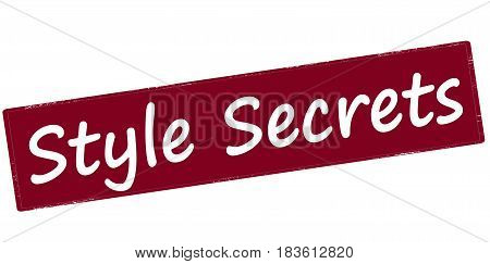 Stamp with text style secrets inside vector illustration