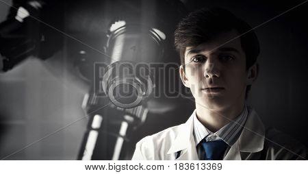 Portrait of handsome doctor