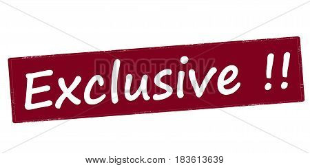 Stamp with word exclusive inside vector illustration