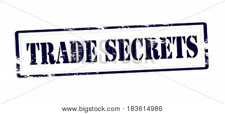 Stamp with text trade secrets inside vector illustration