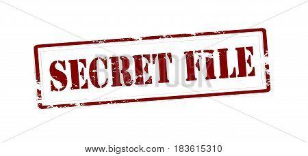 Stamp with text secret file inside vector illustration