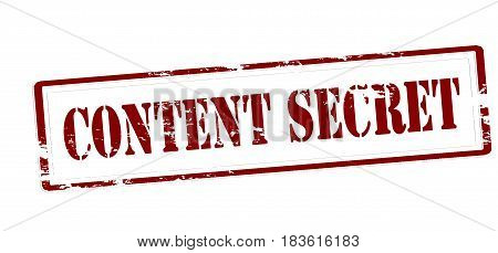 Stamp with text content secret inside vector illustration