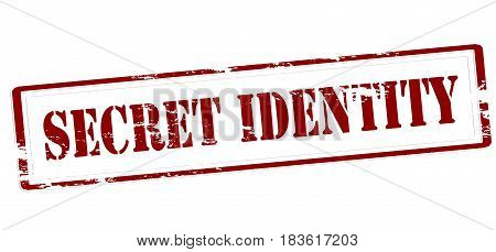 Stamp with text secret identity inside vector illustration