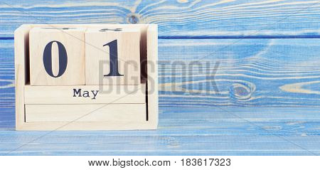 Vintage Photo, May 1St. Date Of 1 May On Wooden Cube Calendar
