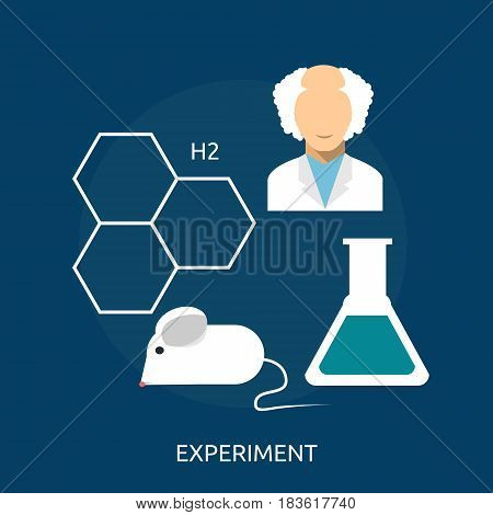 Experiment Conceptual Design | Great flat illustration concept icon and use for science, research, technology, physics, chemistry and much more.