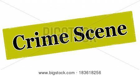 Stamp with text crime scene inside vector illustration
