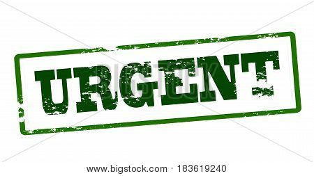 Stamp with word urgent inside vector illustration